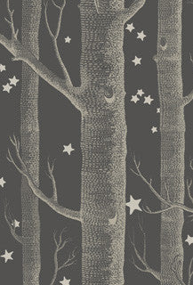 Copy of Cole and Son - NEW Woods + Stars charcoal from Whimsical Collection