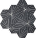 Dandelion Cement Tiles - Charcoal + Pure White