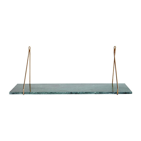 Mila Shelf - Green Marble
