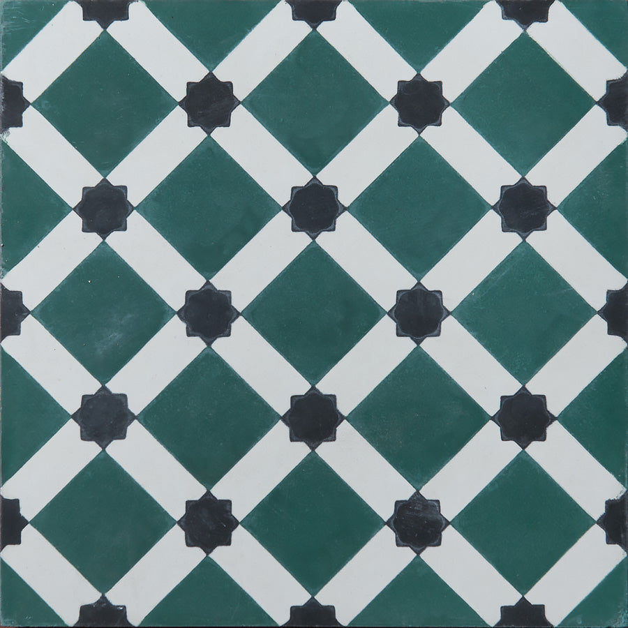 Harlekin Cement Tiles - Bottle Green