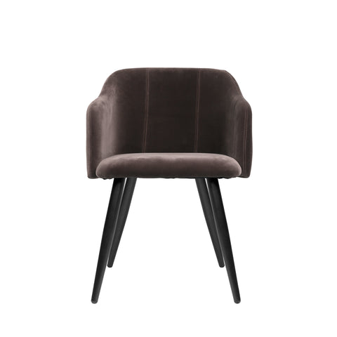 Club Dining Chair in Espresso Velvet