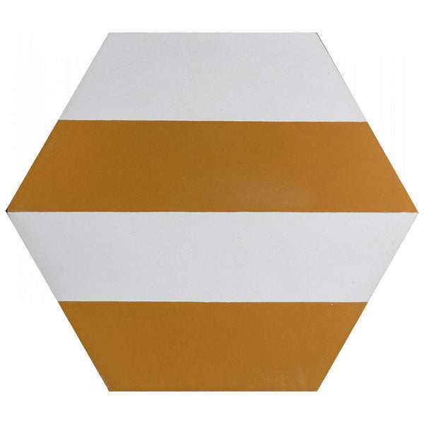 Kimono B Cement Tiles - Honey + Pure White