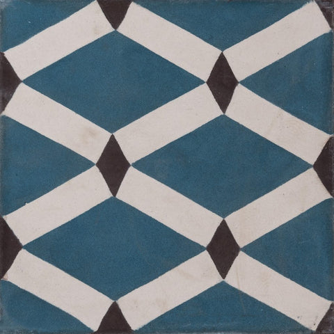 Korfu Cement Tiles - Petrol Blue