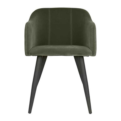 Velvet Chair in Sage Green