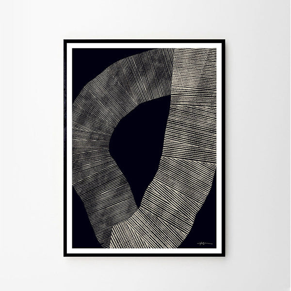 Abstract 696 - Art Print By Studio Paradissi - WITH BLACK METAL FRAME (LAST ONE!)