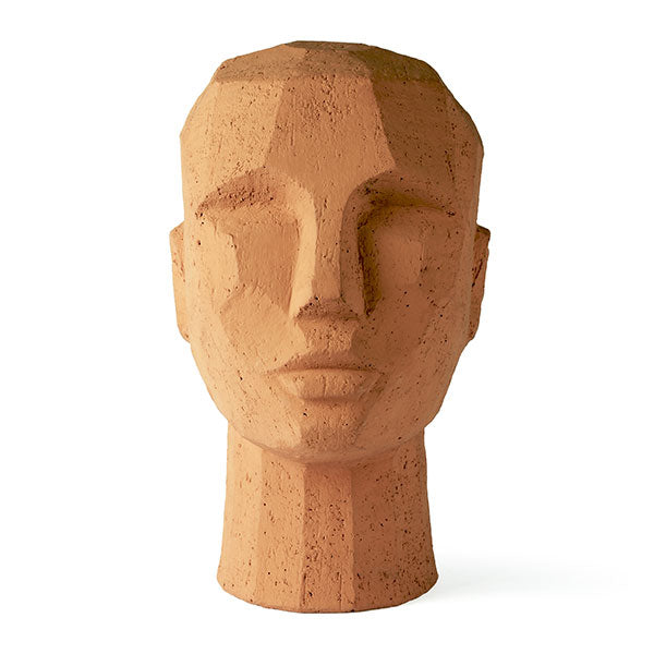 Modern Sculpted Terracotta Head
