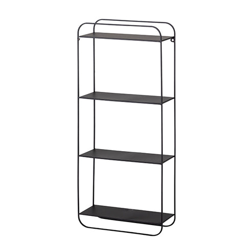 Henry - Black Metal Shelf Unit - 4 shelves