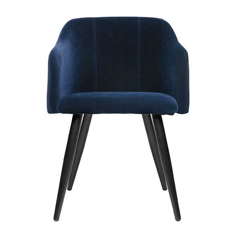 Club Dining Chair in Royal Blue Velvet