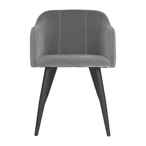 Club Dining Chair in Steel Grey Velvet