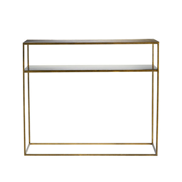 Console Table In Honey Brass