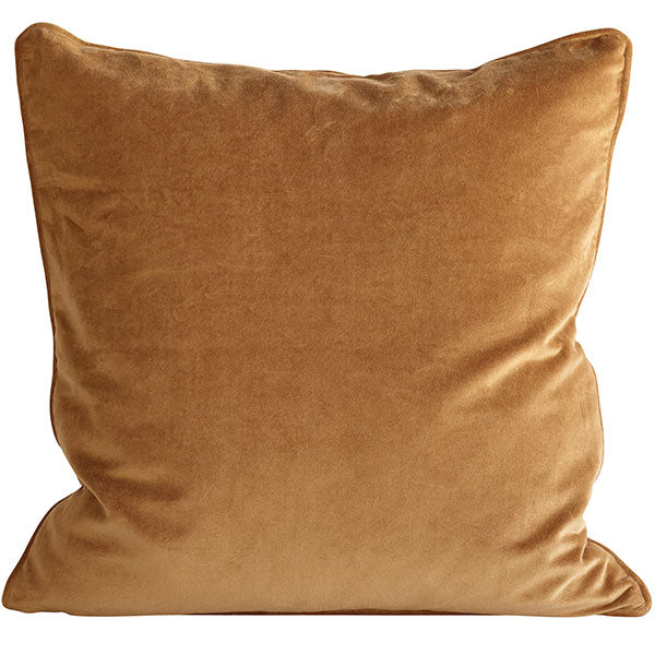 Velvet cushion - Warm Golden Amber (with luxury feather inner)