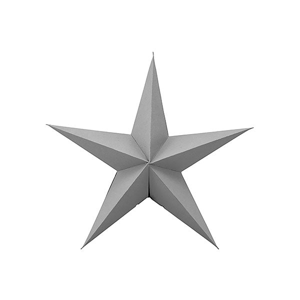 Decorative Paper Star - Grey (set of 3 x 15cm)