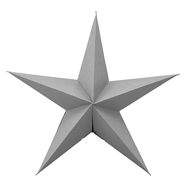 Decorative Paper Star - Grey (set of 2 x 25cm)