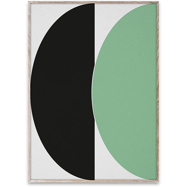 Half Circles III Green + Blue - Art Print by Nina Brunn