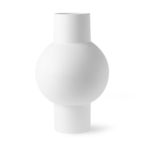 Atlantis Modern Vase -Smooth Matt White (medium)