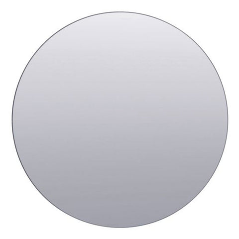 Frameless round mirror in smoke grey - Large 80cm