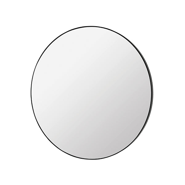Large Round Mirror with Thin Profile Black Frame (80cm)