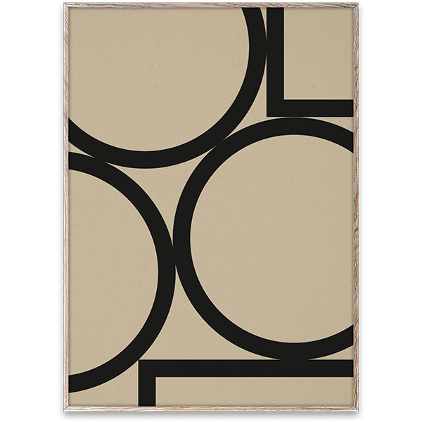 Simple Forms II - Art Print by Nina Brunn - WITH BLACK WOOD FRAME