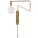 Brass Swing Wall Lamp - plug in (Medium)