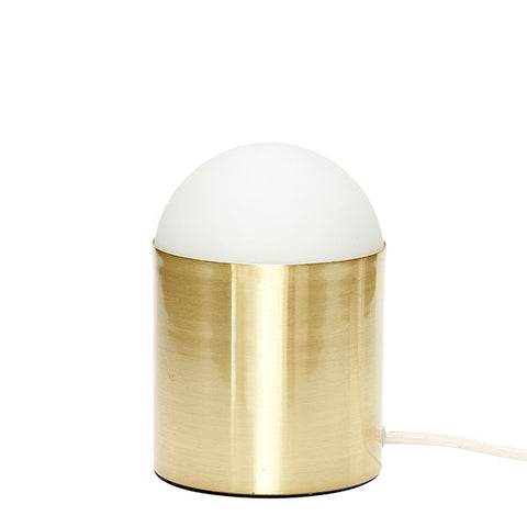 Cecile Table Lamp - Brushed Brass + White Glass