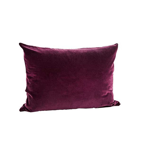 Deep Plum Velvet Cushion  - 50 x 70cm