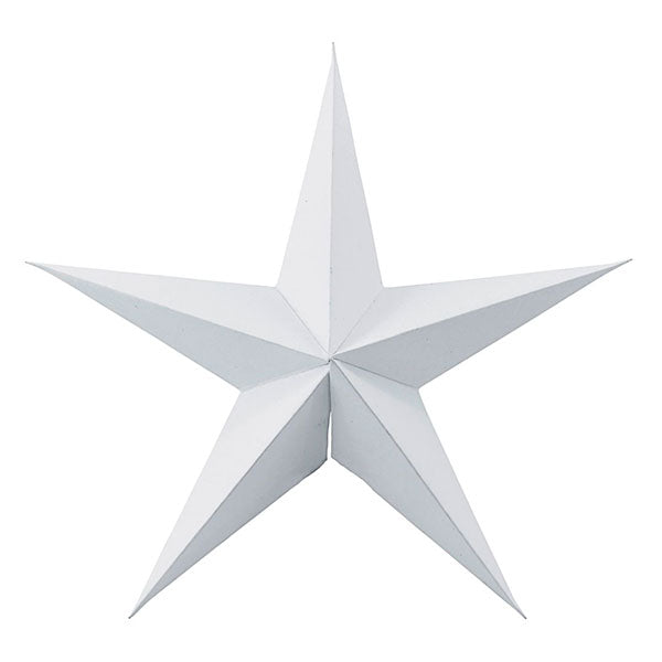 Decorative Paper Star - White (set of 2 x 25cm)