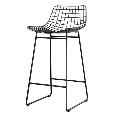 Modern Metal Bar Stool in Black