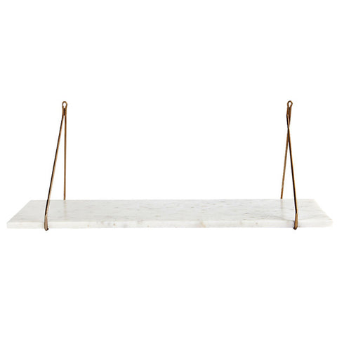 White Marble Shelf for Metal Brackets