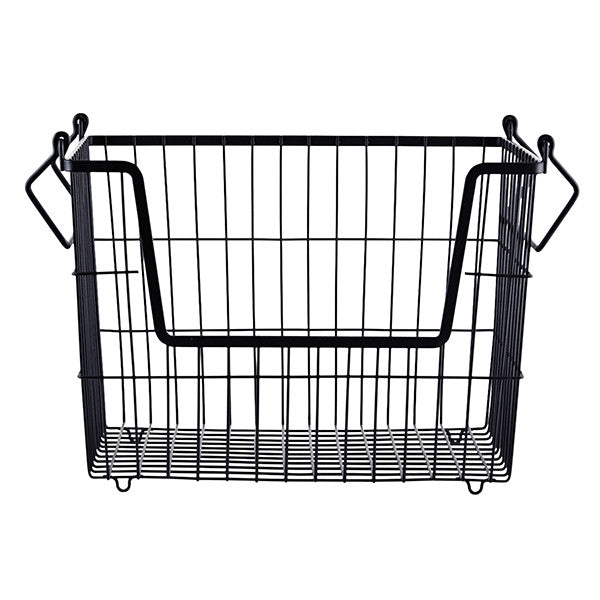 metal storage basket - matt black