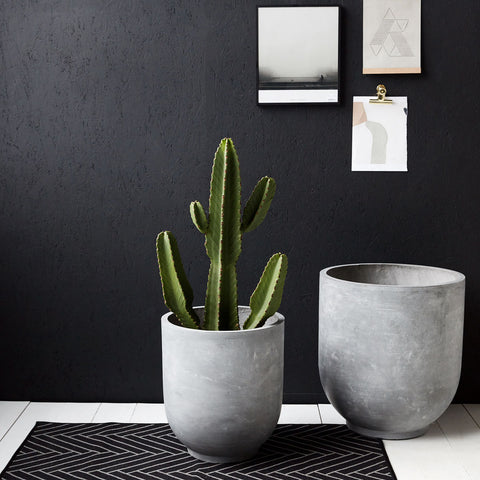 Grey Concrete Planter - 2 sizes (Super Large + Mega Large)
