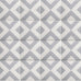 Moroccan cement floor + wall tiles (grey square)