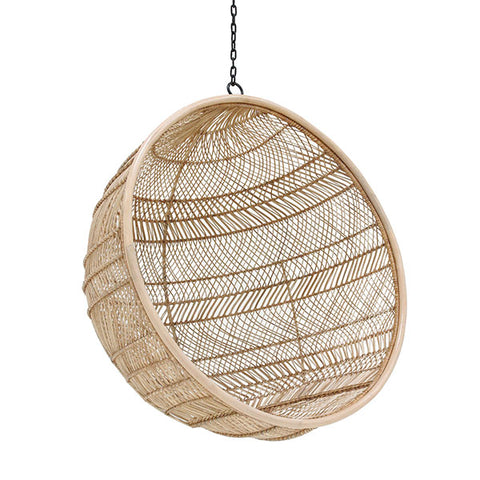 Hanging Ball Chair - natural rattan