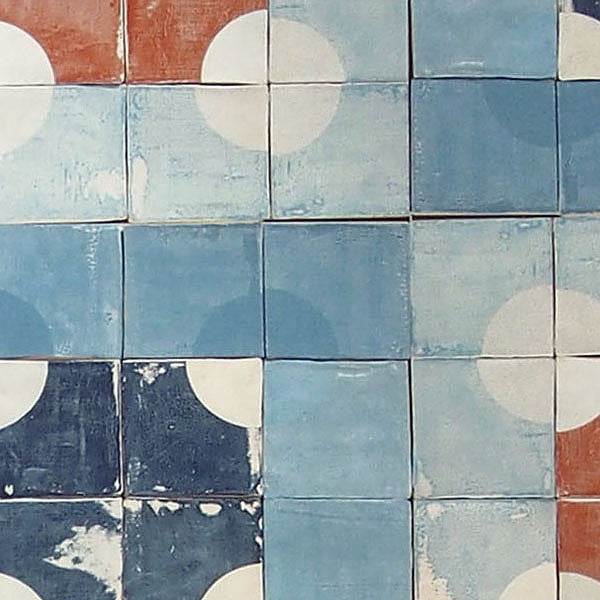 Quarter Circle - Tiles Effect Wallpaper