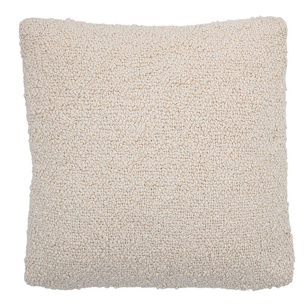Boucle Cushion - Natural White (with luxury feather inner)