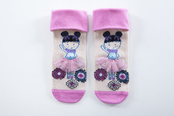 Snowflakes and Sunflowers Ballerina lace socks