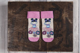 Pink girly ballerina socks. Hand finished lace for baby girls