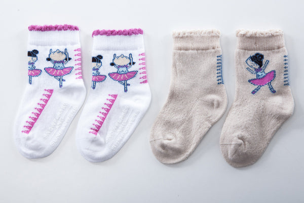 Dancing Ballerina children's socks for baby girls
