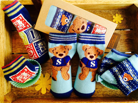Blue Bear Socks Gift Box