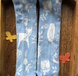 Baby Blue Woodland Animals Childrens Tights