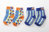 Bright 2 pair pack of snowflakes and sunflowers socks perfect for boys.