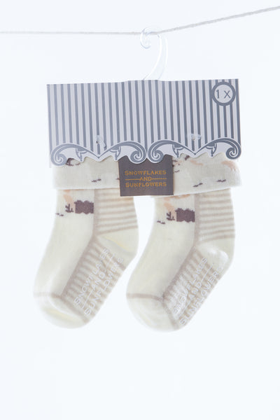 Set of Three Children's Neutral Socks
