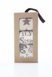 Fun 3 pair gift box of girls' and boys' snowflakes and sunflowers socks
