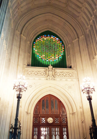 New Dawn light sculpture by Mary Branson at Westminster