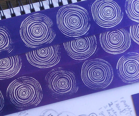Purple aluminium with scroll motif
