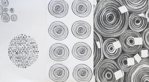 Sally Lees New Dawn Sketches and Scrolls imagery inspiration