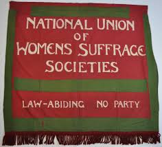 National Union of Women's Suffrage Societies banner