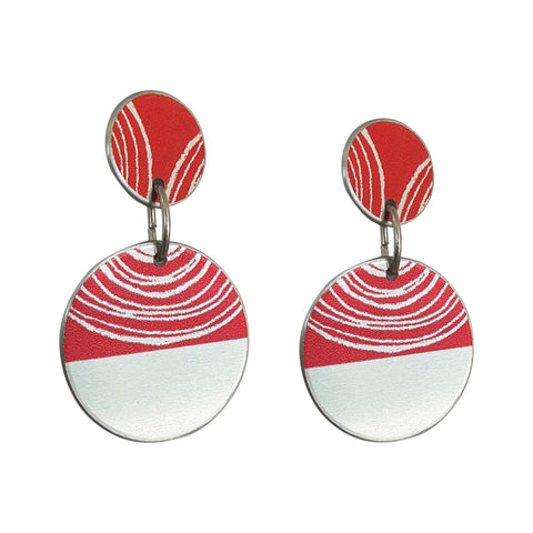 red women's suffrage earrings