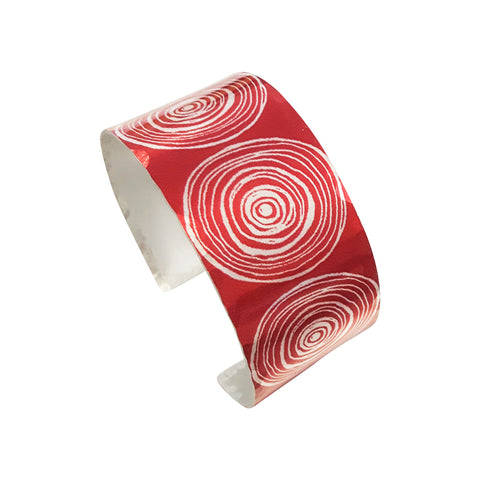 New Dawn red scroll women's suffrage cuff