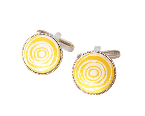 'New Dawn' Yellow Cufflinks