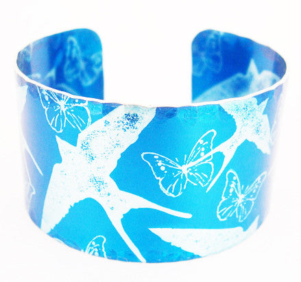 Blue Swallows Cuff